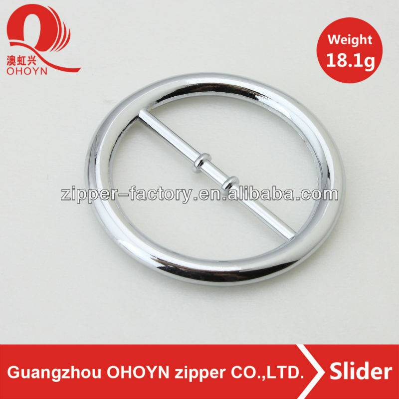 wholesale custom 18.1g chrome metal bag round buckle