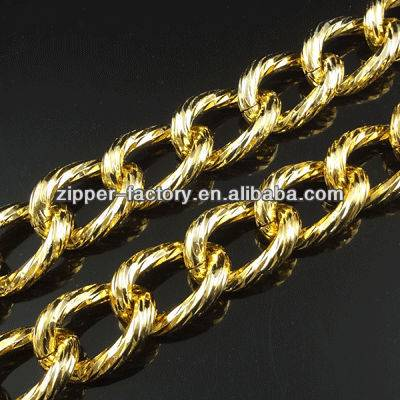 Hot sale metal shiny gold chain for bags