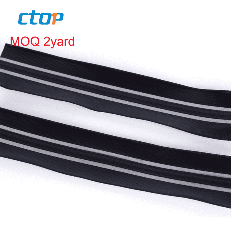 guangzhou fancy custom decorative industrial instant rubber aramid reflective airtight zipper