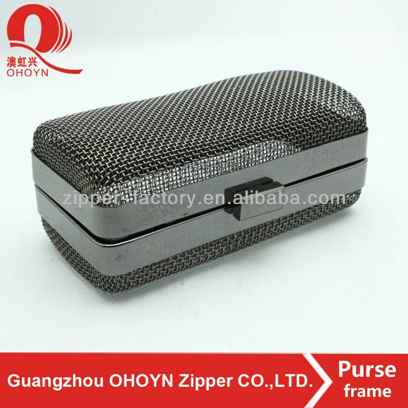 wholesale custom box clutch frame bag metal box frame