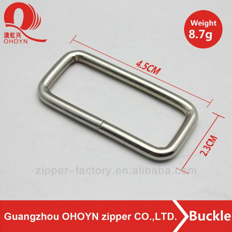 Fashion metal Square Shape Buckle For Luggage Bag