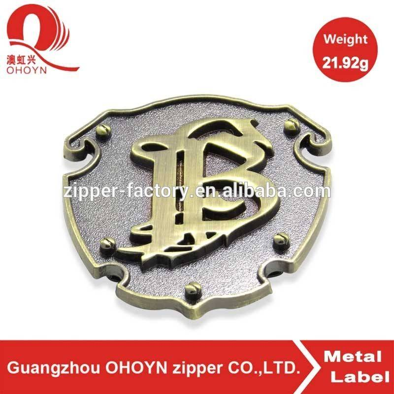 guangzhou factory metal label for clothing