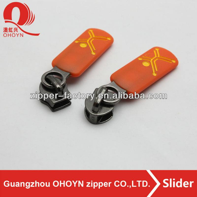 New production! pollution-free nickel-free silicon zipper slider puller No.215D1210