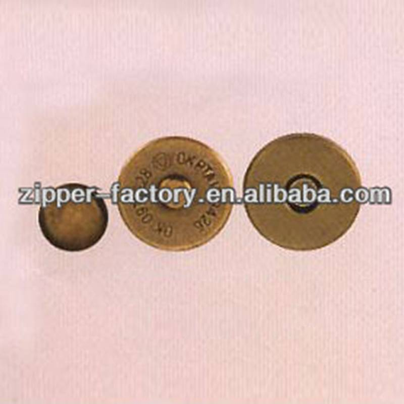 High quality magnetic snap button brass magnetic buttons for clothing