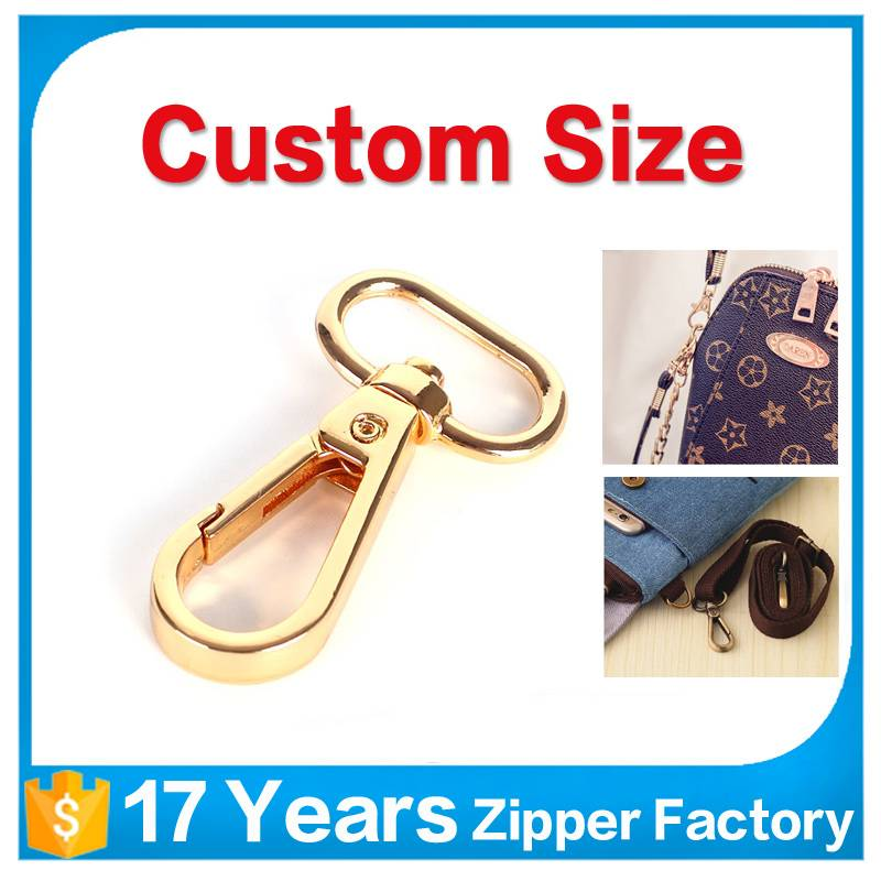 High quality custom handbag accessory fashion belt hook metal snap hook for bags