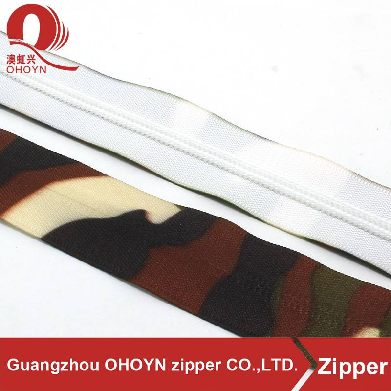 New style disruptive pattern nylon longchain zippers in huadu