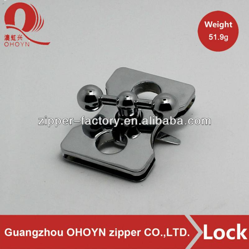 Factory sale bag accessory metal bag twist turn lock