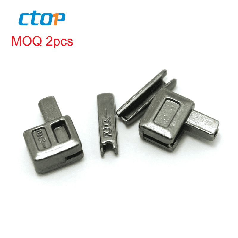 Factory wholesale zips part accessories metal zipper insertion pin and box for open end zipper