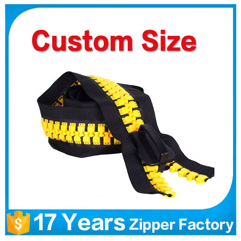 2017 new products big teeth plastic zipper india