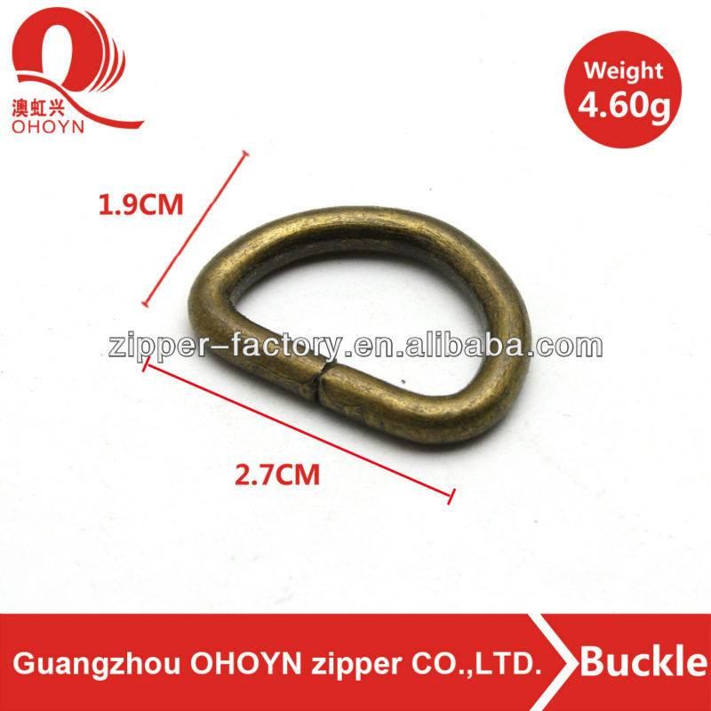 wholesale metal open d ring with screw for bag