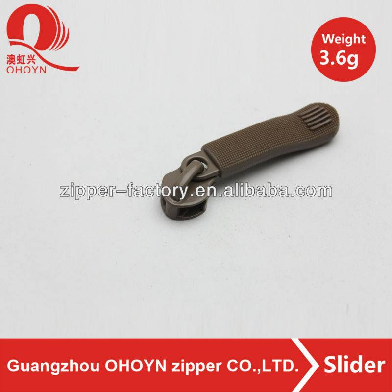 Custom zipper pull non lock plastic handbag zipper puller for clothing