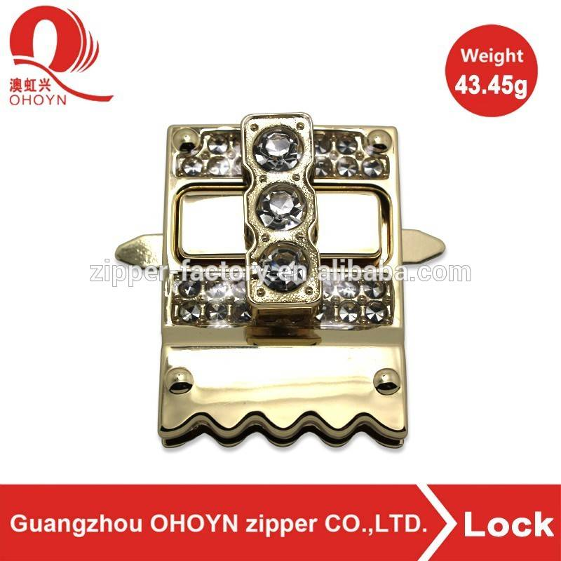 factory bag accessory high quality metal bag twist turn lock