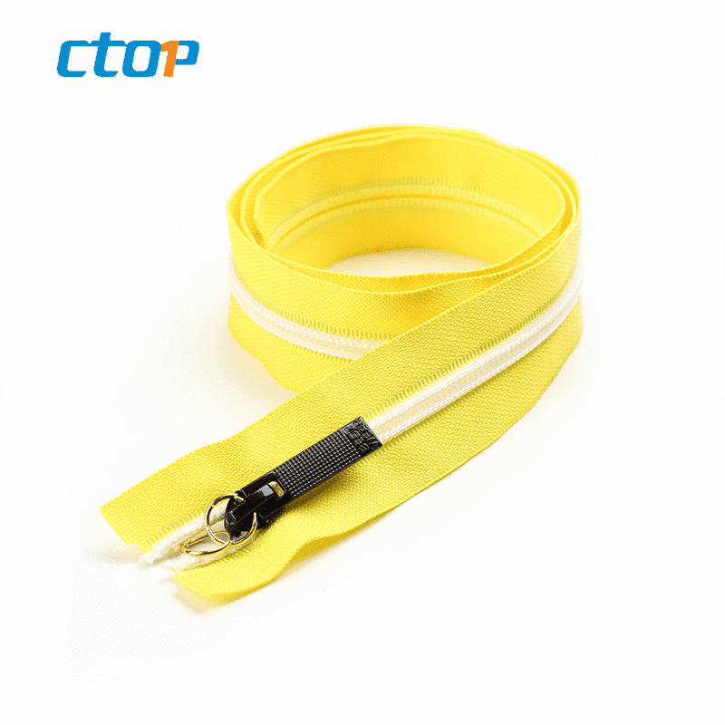 Guangzhou factory wholesale yellow tape zipper garment accessories custom nylon zip