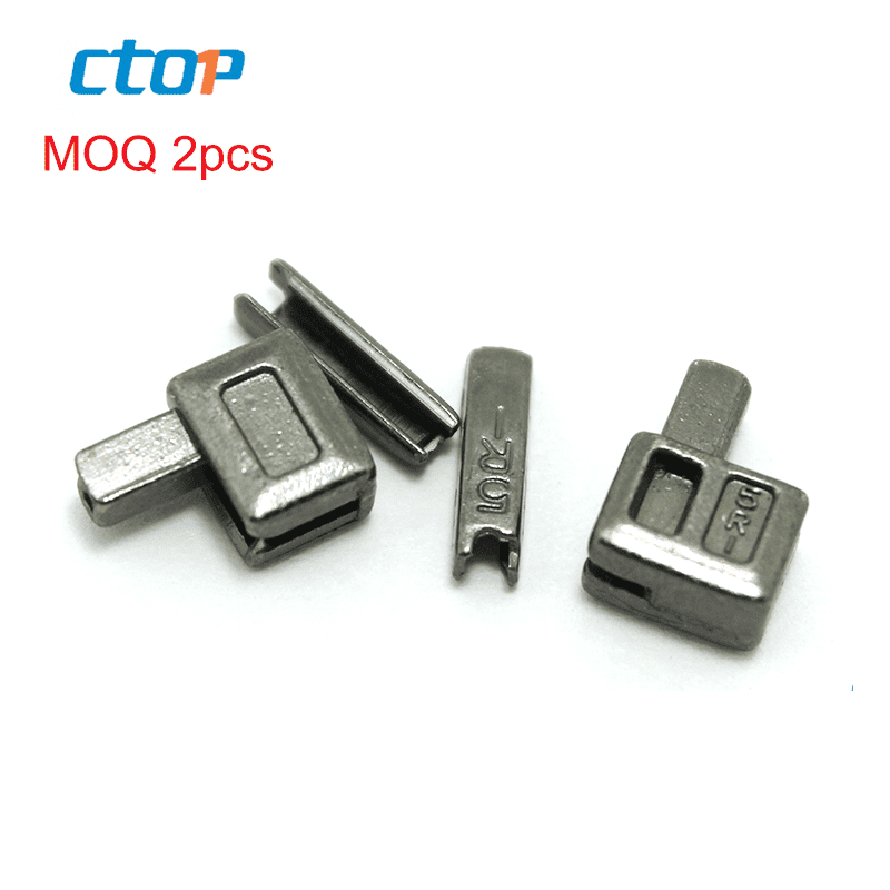 hot sale metal accessory zipper pin and box for open end zipper