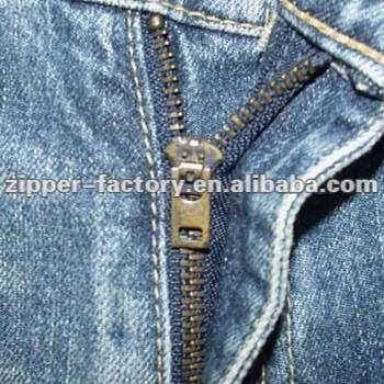 5YG Closed End Double Autolock H65 Brass Teeth No.5 Finished Jeans zipper