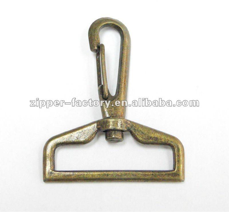 fancy anti brass snap hook for bag parts
