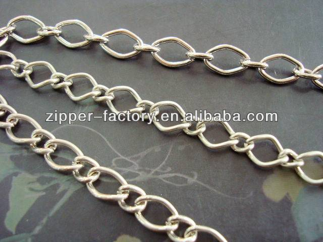nickel metal link bag chain