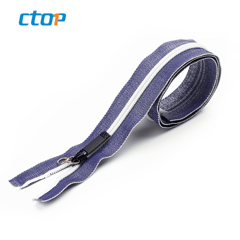 Fancy long zipper nylon bag zipper for garment accessories