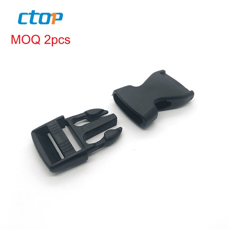 Guangzhou wholesale manufacturers high quality black strap webbing buckle side quick release bag custom plastic belt buckle