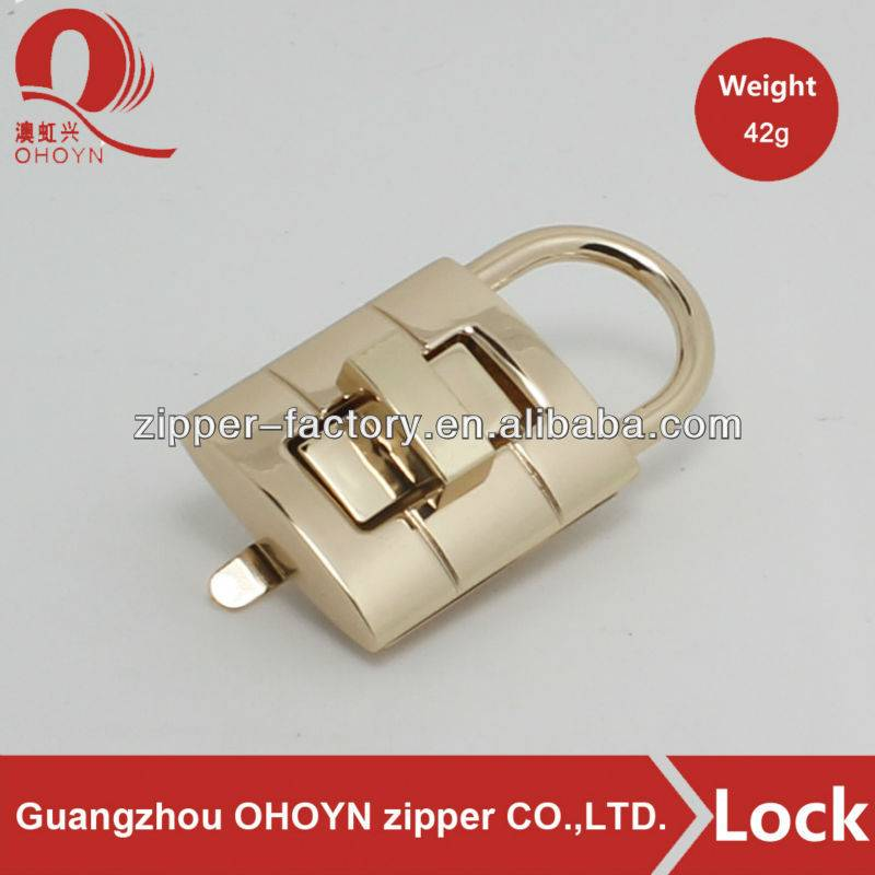 Professional handbag lock fashion bag clip lock