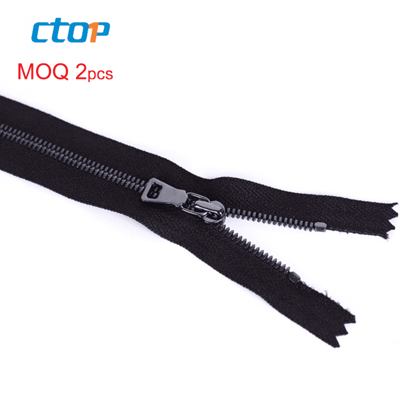 Fashion high quality bag accessories nylon tape black metal zipper