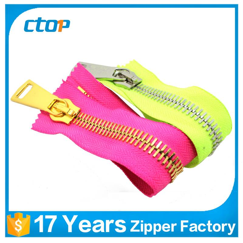 wholesale 15# swiss teeth zipper cloth metal zipper