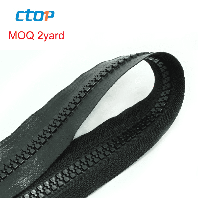wholesale custom fashion high quality tpu 5# black long chain plastic waterwroof zipper roll
