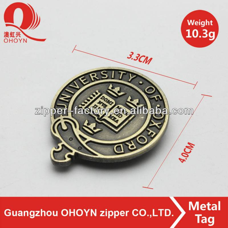 wholesale custom metal label brand garments logo designs