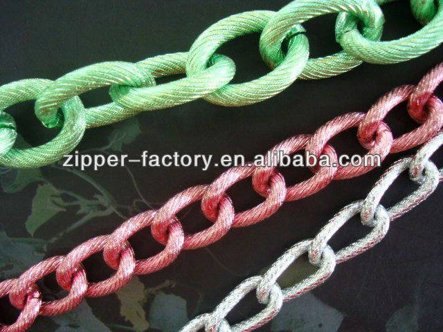 fancy wholesale metal color bag chain