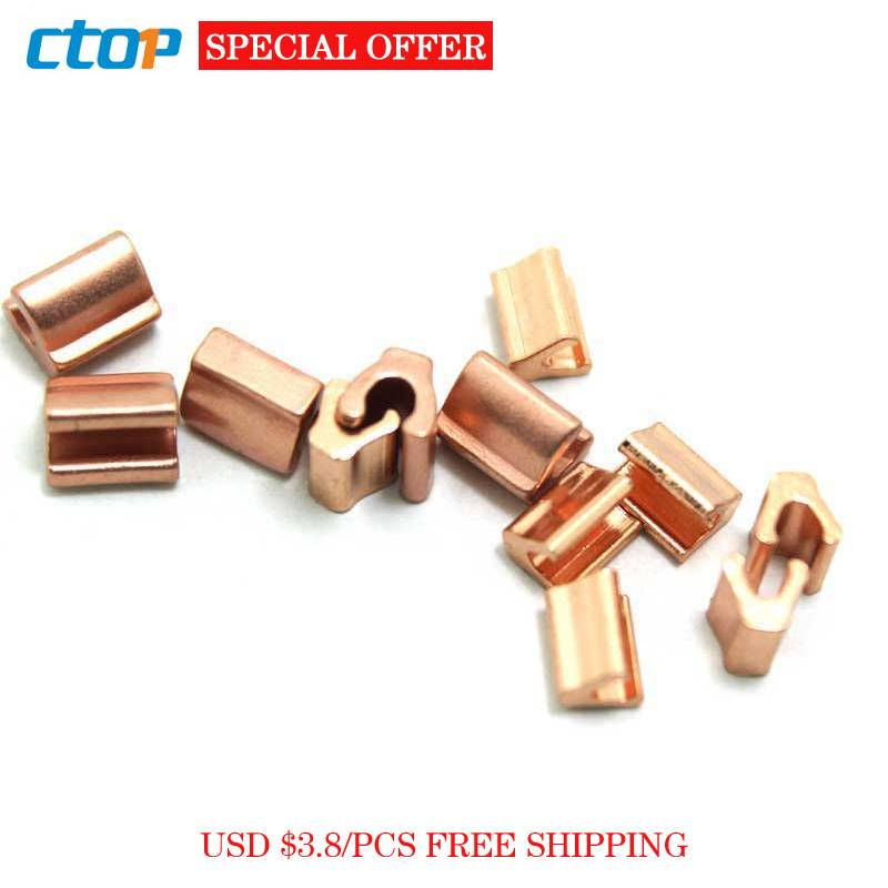 Metal zipper brass Y shape top stops for zipper