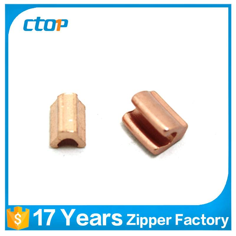 good quality H tape zipper bottom stop