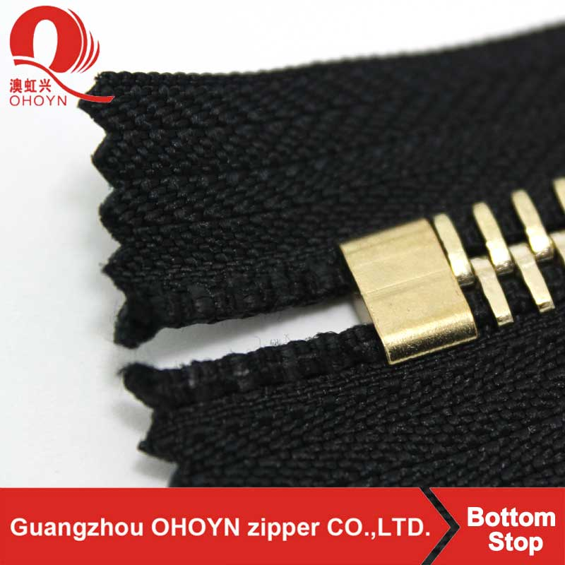 factory wholesale custom Y shape Brass zipper bottom stops zipper top stop