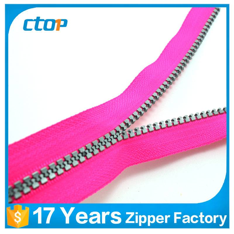 Best prices promotional colorful resin zipper