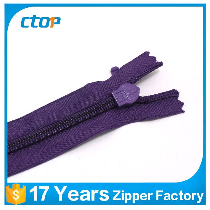 guangzhou factory invisible zipper 60cm