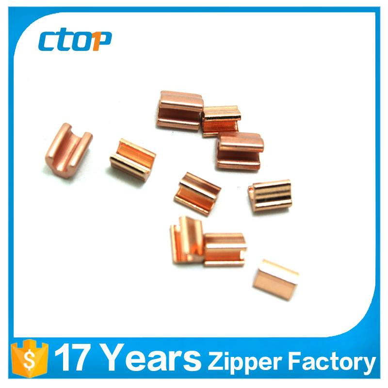 factory reasonable price metal zipper bottom stop