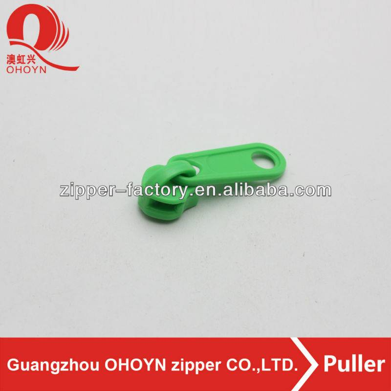 Customized two sided non lock plastic nylon zip puller decorative zip pulls for bag