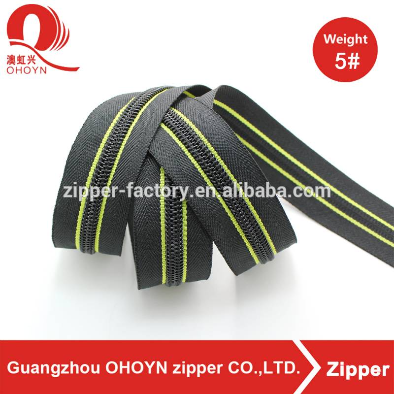 Wholesale nylon longchain zipper garments zippers for suitcase