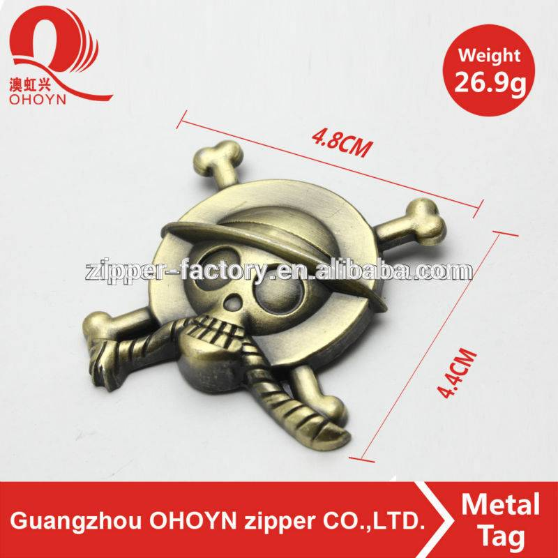 guangzhou factory metal shoelace tag with custom logo