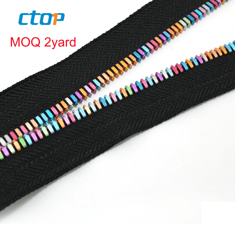 High quality low price black tape color teeth jeans metal zipper custom zipper for jeans