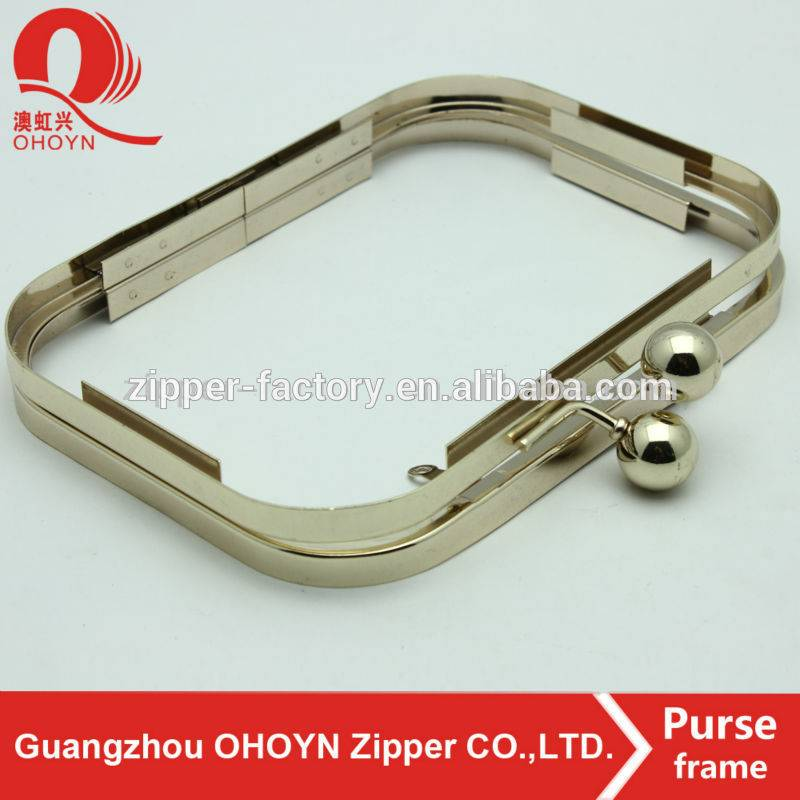 wholesale high quality low price custom metal box clutch purse frame