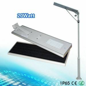 20w all in one solar led street light