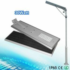 30w all in one solar led street light