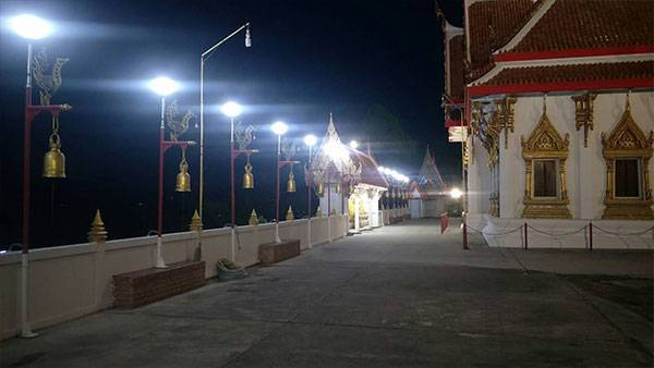 MIC led flood light and led street light project in Suratthani province Thailand