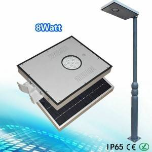 8w all in one solar led street light