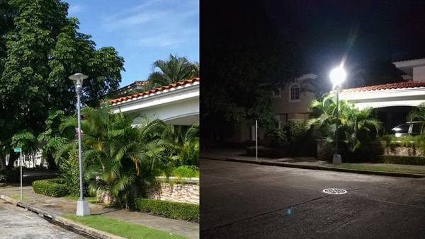 80w led corn light in PANAMA project