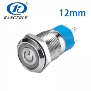 Push button switch 25mm push button switch 12mm