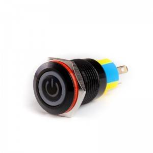 Momentary led push button switch flat push button switch