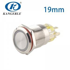 5 pin push button switch 19mm