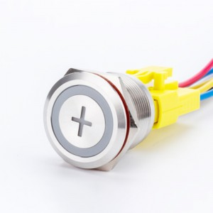 Push button light switch 22mm symbol with plug