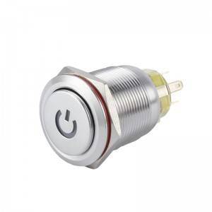 Push button 5v led push button 22mm high head with led